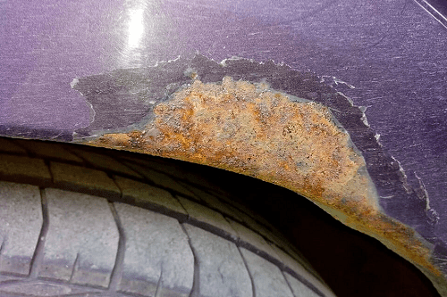ржавчина кузова авто под обработку цинкарем